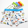 3pcs/lot Children's Underwear High Quality Baby Boy Cartoon Car Modal Panties 2-7 Years Child Boys Boxer Briefs Wholesale Retail
