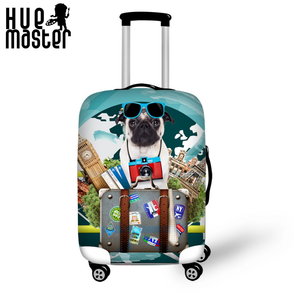 HUE MASTER Travel Accessories Luggage Case Cover Suitcase Protective Covers Animal Flag Prints 18-32 inch Luggage Cover