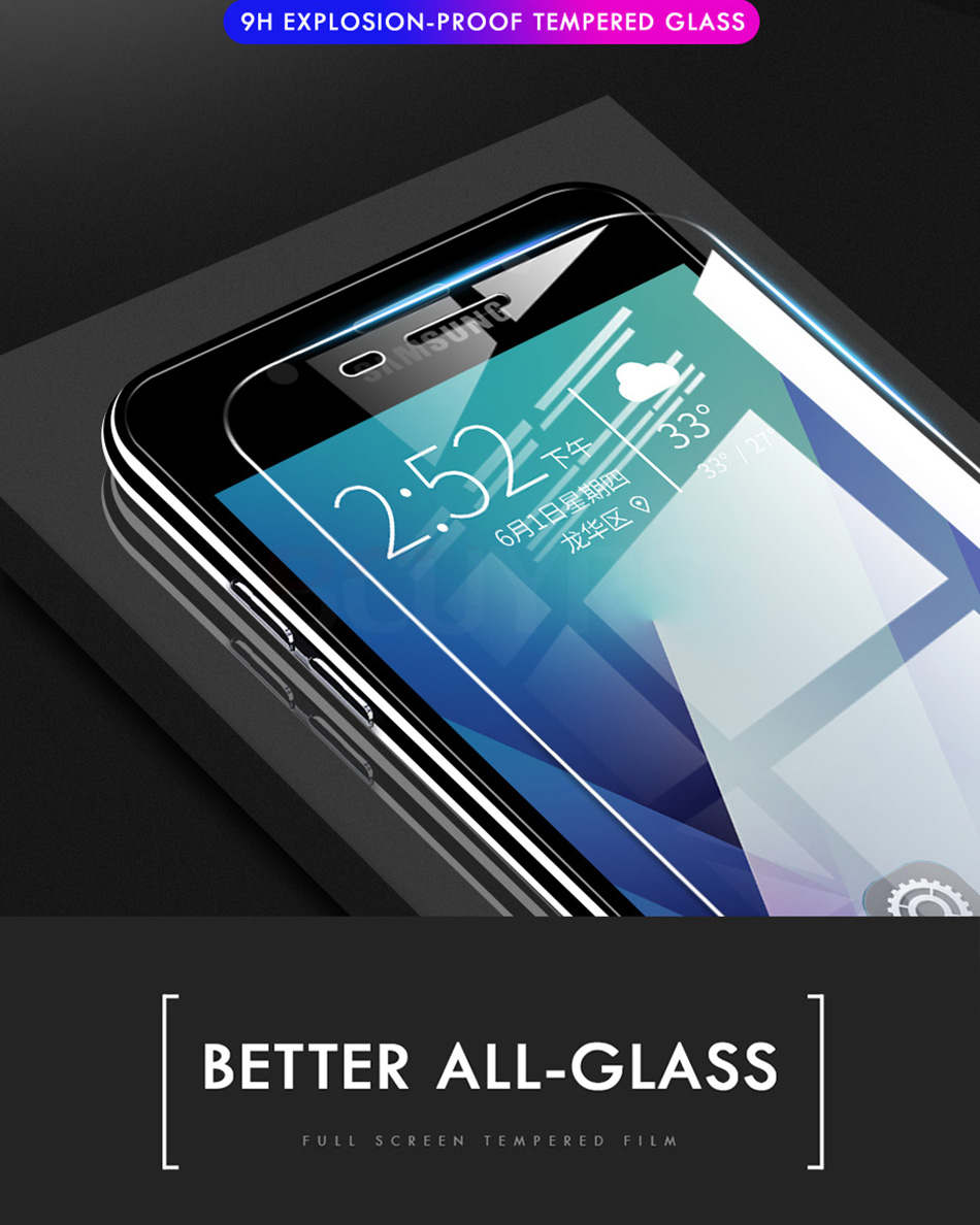 3 sztuk folia na wyświetlacz 9H 2.5D szkło hartowane dla Samsung Galaxy A7 A9 2018 J6 A6 A8 J4 Plus szkło ochronne do Samsung A5 2017 2