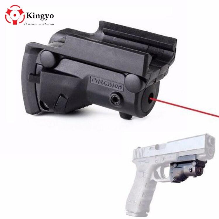 Тактический красный лазерный прицел 5 мВт, красная точка для Glock 19 23 22 17 21 37 31 20 34 35 37 38, Пистолетная винтовка, страйкбол, охота