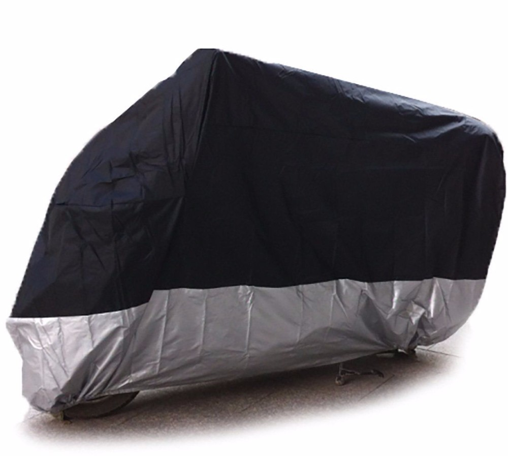 Black UV Protection Motorcycle Waterproof Cover Rain Protection Breathable XXL 3
