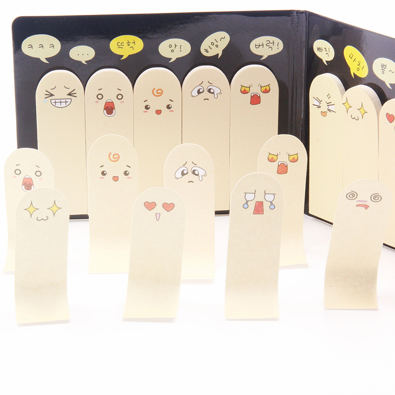 1PCS 200 Pages Lovely Unique Scrapbooking Ten Fingers Sticker Bookmark Tab Flags Memo Book Marker Sticky Notes Office Stationery