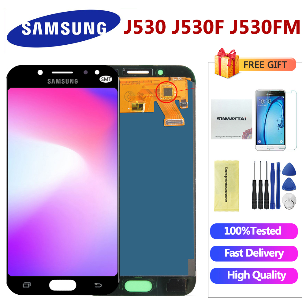 Adjustable LCD Galaxy J530 2017 For Samsung J5 2017 Display Touch Screen Digitizer J5 Pro J530 J530F LCD 5.2'' Inch(China)
