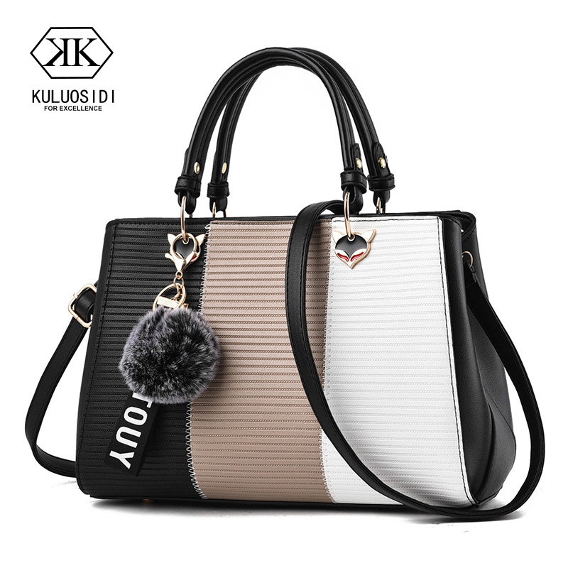 Contrast Color Luxury Handbags Women Bags Designer Shoulder Bag For Women 2018 Leather Handbag Sac A Main Ladies Hand Bags genset control 6110 ats control module generator controller