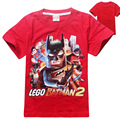 4 pieces/lot Cartoon batman 2016 summer wear Children boy's coat Pure cotton T-shirt with short sleeves Fashion Tops For Boy Kid