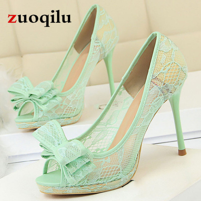 Sexy white wedding shoes bride shoes ladies peep toe high heels platform shoes women Pumps  high heels shoes 2019