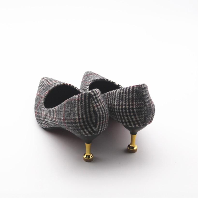 A amp; 6 Casual Chaussures Lady Plaid Pompes Cm Mignon Mode Glissement Sur Cresfimix b Hauts c Talon Printemps Haute À Summer Talons Sexy Femmes Et 7qEnxAvB