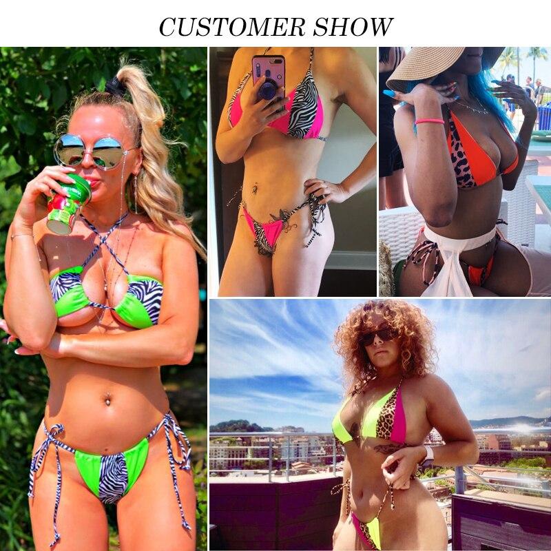 HTB1F.XFdBiE3KVjSZFMq6zQhVXaw Bikinx Leopard bikinis 2019 mujer biquini zebra Neon sexy swimwear women bathing suit String Brazilian swimsuit push up bathers