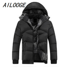 AILOOGE Brand Clothing Winter Jacket Men Casual Parka Jacket Thick Men Hooded Warm Men's Coats and Jackets Fashion Overcoats