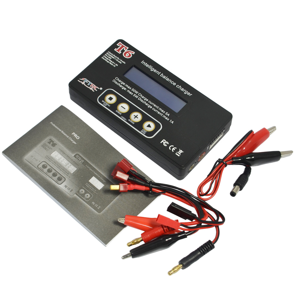 LiPo Lion LiFe Pb NiCd and NiMH Battery 12V 5A AC Adapter optional T6 Digital Intelligent DC Balance Charger Discharger