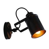 Retro stijl wandlamp Iron art Nordic creativiteit bedlampje van slaapkamer Bar wanddecoratie lamp kamer vouwen