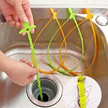 NEW Bathroom Sewer Drain Cleaning dredge Kitchen Sink Drian Strainer Clear Hair Clogging Bendable Plastic Drain Cleaning tools 1pc kitchen adjustable sewer filter drain cleaners outlet bathroom sink cleaner drain hair plastic strainer removal tools