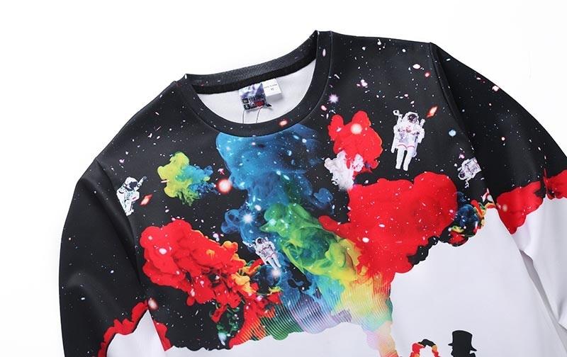 New Arrival Men/women 3d Sweatshirts Funny Print Smoking Person Person Smoking sweater HTB1F