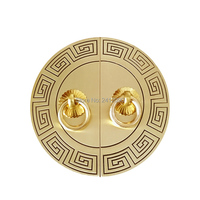 14cm 11cm Antique Round Furniture Handle Knobs Brass Hardware Accessories Wardrobe Cupboard Cabinet Handle Corner Brackets