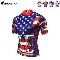 WEIMOSTAR USA Crâne Hommes Cyclisme Jersey Vélo Sport Manches Courtes Ropa Ciclismo VTT Jersey Chemises Vélo Vêtements Tops S-XXXL