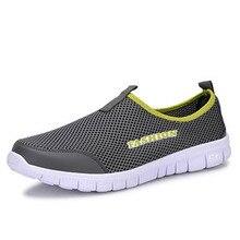 Men Summer Shoes Light Comfortable Men Casual Shoes Mesh Breathable Loafers Footwear Plus Size 38-46