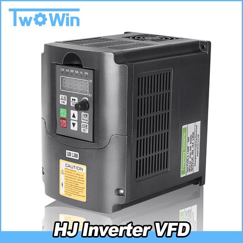 2 2KW 1 5KW CNC Inverter Variable Frequency Drive VFD Inverter AC 110V 220V Spindle Inverter