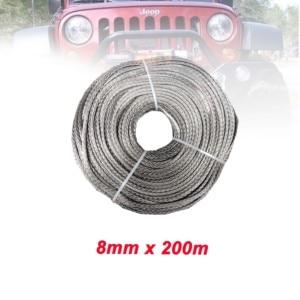 Image 5 - Free Shipping 8MM x 200M 12 Strand Extreme Orange UHMWPE Synthetic  Rope