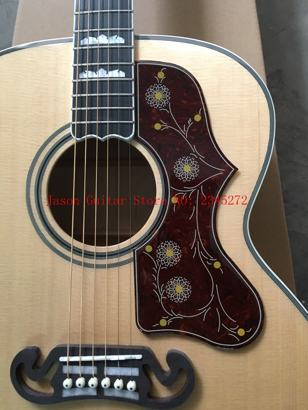 2018 New + Factory + Chibson J200 flame maple acoustic guitar J200 electric acoustic Deluxe guitar spruce top acoustic+customize 2017 new guitar factory all flame maple body chibson es 175 electric jazz guiar es175 semi hollow jazz guitar free shipping