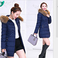 Nueva chaqueta de invierno de estilo largo Parkas capa delgada ocasional abrigo de invierno mujeres Parka tamaño más manteau femme H195