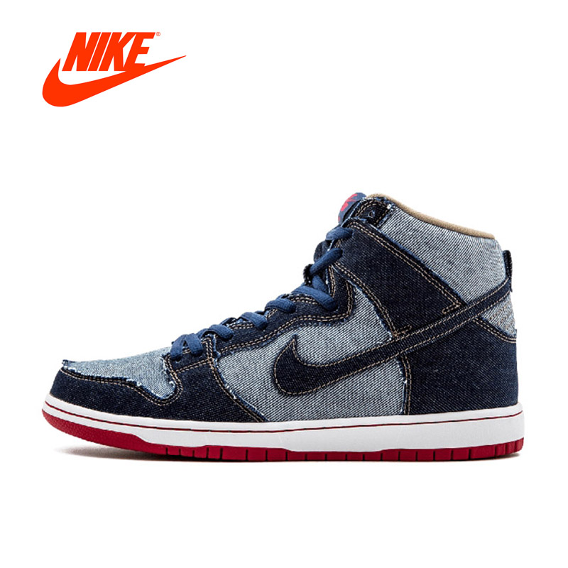 Original New Arrival Authentic Nike SB DUNK HIGH TRD QS Men's Hard-Wearing Skateboarding Shoes Sports Sneakers nike sb кеды nike sb zoom dunk low pro черный бледно зеленый белый 9 5