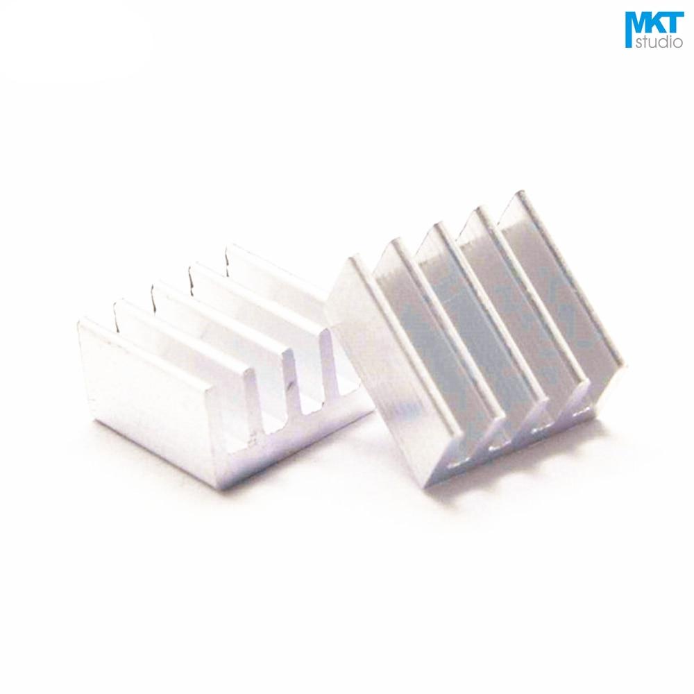 100Pcs 8.5mmx8.5mmx5mm Pure Aluminum Cooling Fin Radiator Heat Sink