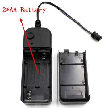 DC3V 2*AA Battery Power Supply Adapter Driver Controller Inverter For 1-5M El Wire Electroluminescent Light,DC To AC
