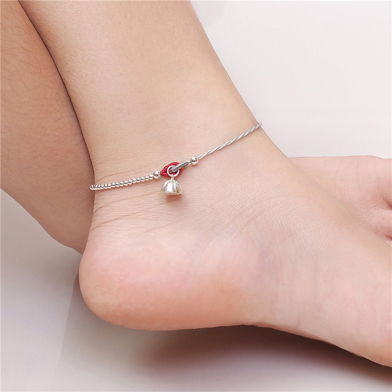 2019 Real Bangle Original Hand Tang Jing Anklets The Bell 925 Lotus Hand-woven Female Fashion Summer Transfer Can Be Adjusted 2019 Real Bangle Original Hand Tang Jing Anklets The Bell 925 Lotus Hand-woven Female Fashion Summer Transfer Can Be Adjusted