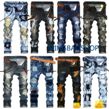Mens Ripped Jeans 2019 Brand Fashion Luxury Designer Men s Clothing Para Hombre Skinny Pants Plus Size pour femmes jeans