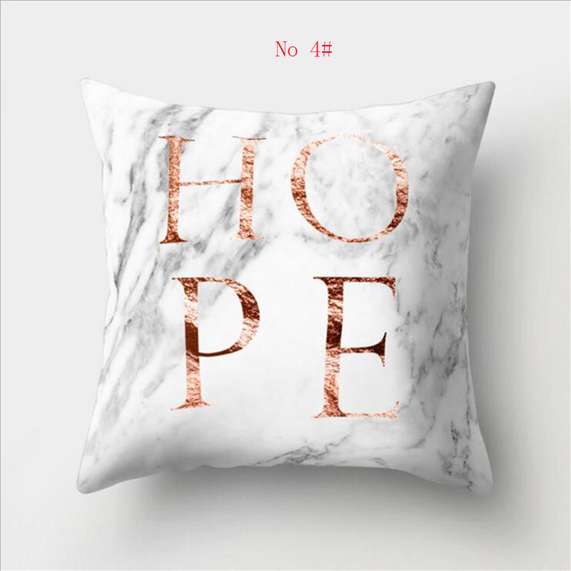 45cm*45cm Super clear Marble - like alphabet design super soft throw pillow covers couch cushion covers decorative pillows