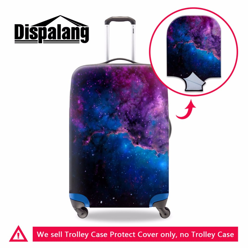 Dispalang Travel Luggage Cover for Women Cool Galaxy Design Foldable Trolley Bag Cover Protective Suitcase Covers With Zipper
