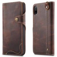 For Funda IPhone X Case Cover Genuine Leather Wallet Luxury Protective Phone Bag Cases For Apple