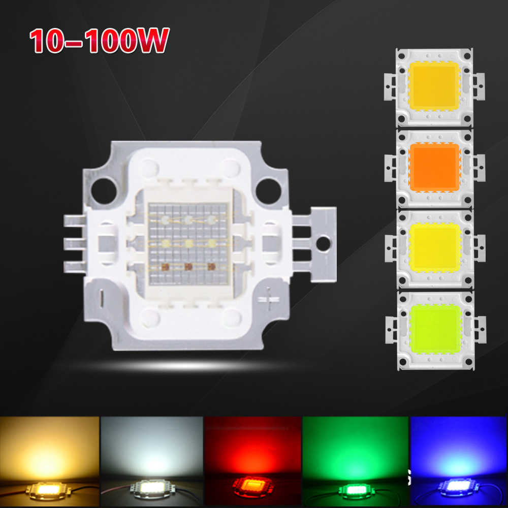 LED RGB Chip Light bulbs DC 12V 10W High Power AC32-36V 20W 30W 50W 100W Integrated COB Led Bulbs For Floodlight Spotlight DIY