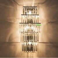 Современные хрустальные Бра настенное Ванная комната бра Освещение в помещении настенное крепление светильники тщеславие огни Ванная ком