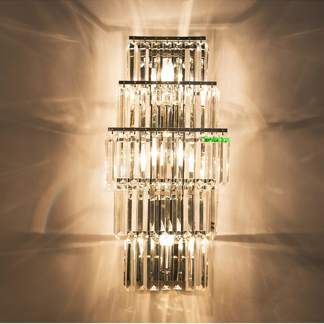 Modern Crystal Wall Sconces Bathroom Sconce Indoor ... on Crystal Bathroom Sconces id=84658