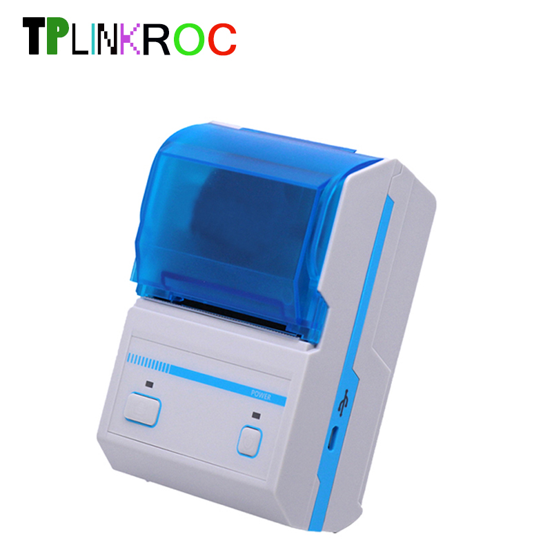 Portable Bluetooth Thermal Receipt Printer 58mm Pos Receipt Printer Barcode Label/sticker Printer Wih Multi-Language Printing
