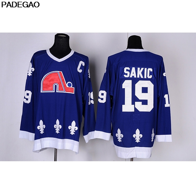16272a5b7c1 2018 Mens Retro 1990 Quebec Nordiques Joe Sakic Stitched Name&Number  Throwback Hockey Jersey