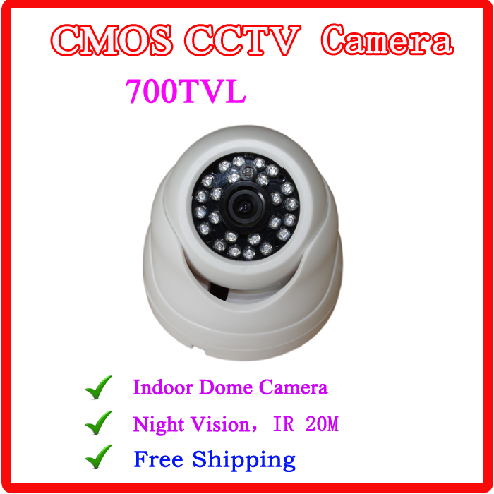 1/3 CMOS 700TVL Indoor Security CCTV Camera 36pcs IR LED Home Video Surveillance HD Night Vision Video Mini Dome Camera zea afs011 600tvl hd cctv surveillance camera w 36 ir led white pal