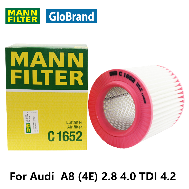 MANNFILTER Car Air Filter C1652 For Audi A8 (4E) 2.8 FSI 3.0L 3.2 FSI 3.7  4.0 TDI 4.2 4.2 FSI Auto Parts In Air Filters From Automobiles U0026  Motorcycles On ...