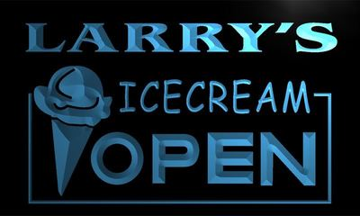 x0029-tm Larrys Icecream Shop Open Custom Personalized Name Neon Sign Wholesale Dropshipping On/Off Switch 7 Colors DHL