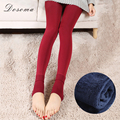plush fleece leggings 2017 warm autumn/spring thicken black fleece women leggings slim fashion 8 color spring leggings for women