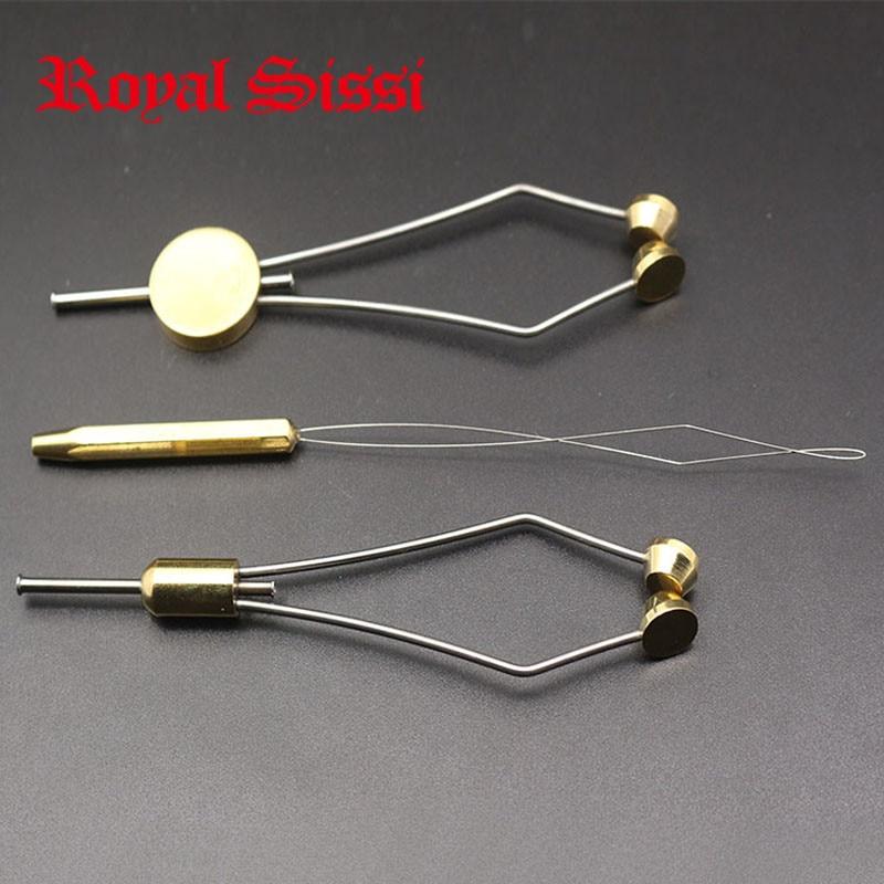 Royal Sissi 3pcs/set Fly Tying Bobbin Holders&Threader Combo Thumb Grip &bullet Head Bobbin Thread Spool Holder Fly Tying Tools