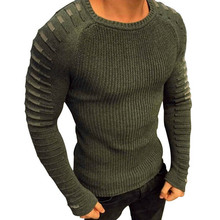 Laamei Sweater Men 2018 New Casual Slim Pullover Autumn Round Neck Knitted Striped Patchwork Winter Warm Brand Classic Sweater