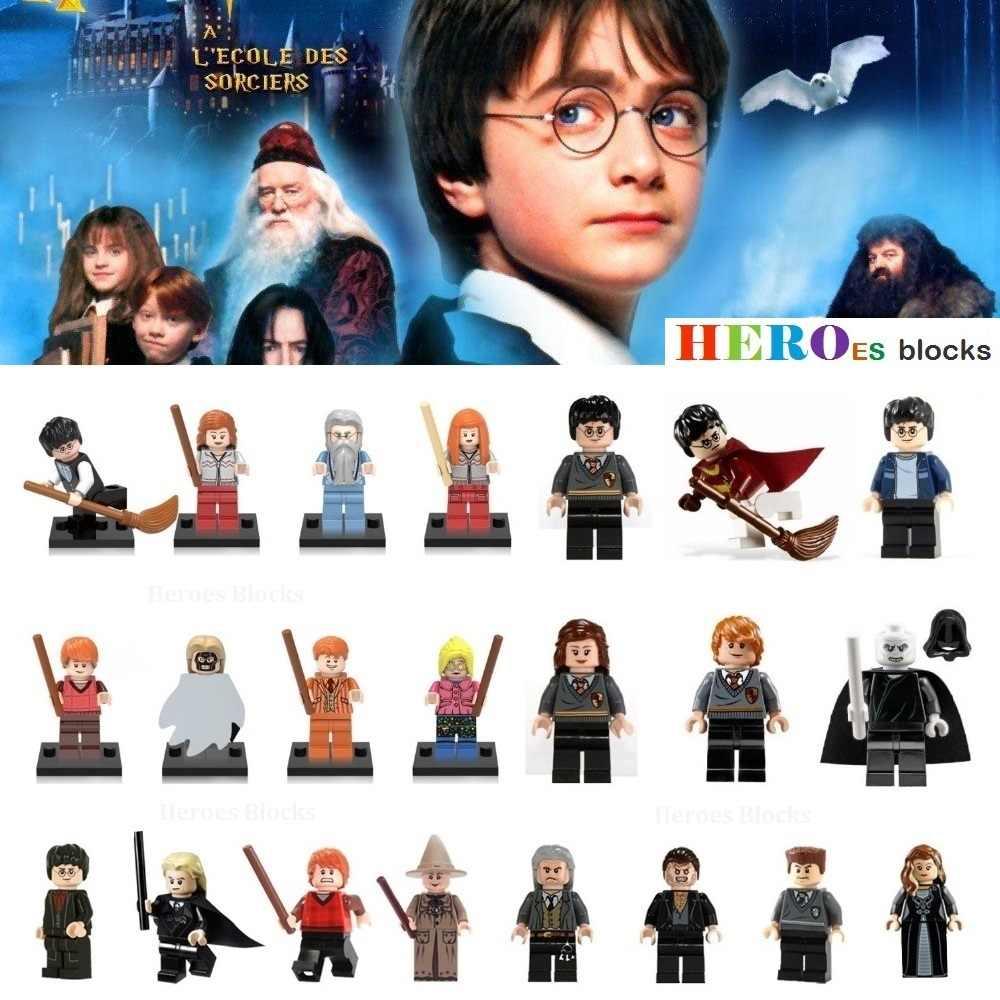1pc Harry Hermione silente Lord Voldemort Weasley Hogwarts Stregoneria Film Building Blocks action Figure Mattoni del Giocattolo del capretto del regalo