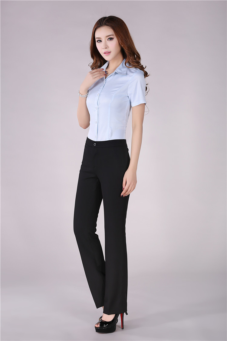 Plus Size Professional Business Women Suits Blouse And Pants Formal