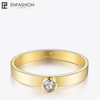 Enfashion Play Series Colorful Crystal Cuff Bracelet Bangle Gold color Bangles Bracelets For Women DIY Jewelry 70038005