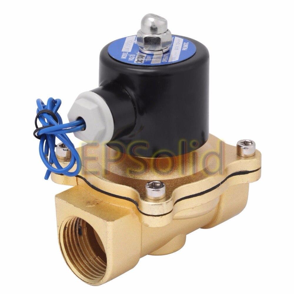 Envío Gratis 2018 nuevo 1 AC 220 V válvula solenoide eléctrica de aleación de válvula para agua, aceite, aire, Gas x1 EPSolid cuerpo de aleación de