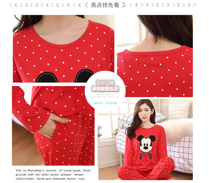 e45a5ead81 MISHI Fashion 2018 Pajamas For Women Set Cotton Autumn Ladies Cute Woman  Sleepwear Long Sleeved Cartoon Home Sleep Clothes Wear