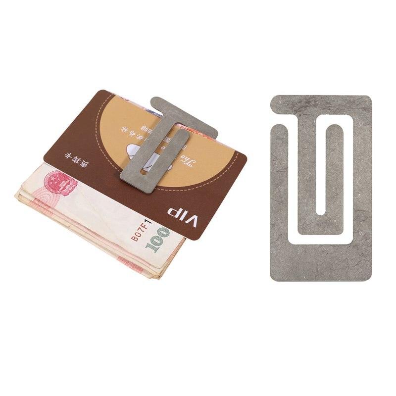 Tarjeta de bolsillo portátil de viaje de excursión que acampa edc gear money cli