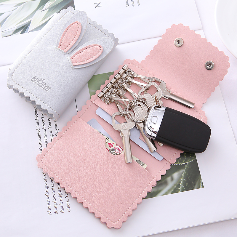 JULICXYJ Brand Men Women Car Key Wallets Fashion Keys Holder Pouch Credit Card Housekeeper Organizer Case Money Bag By 4 Colors